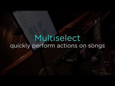 Perform actions on multiple songs with multiselect