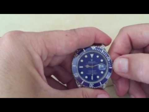 How to Set the Time on Rolex Submariner (Quick Set)