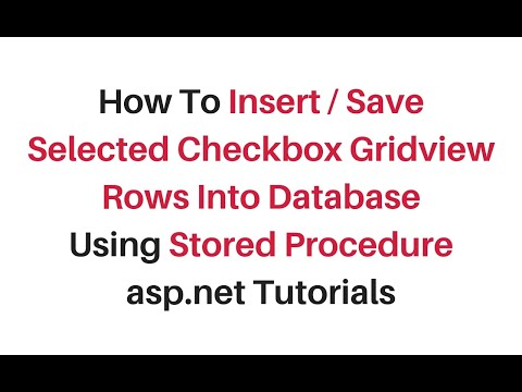 insert selected row from gridview to database using stored procedure c#4.6