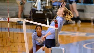 UNC Volleyball: Carolina Outlasts Wake Forest in Five Sets