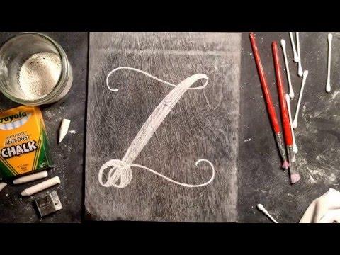 SheShe Design Chalk Script Lettering UPPERCASE Z