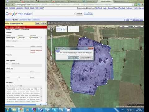 how to mark any site on google earth by map maker