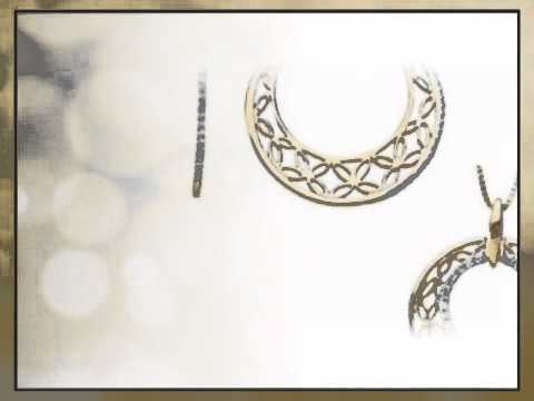 Extraordinary Butterfly Detailed Earrings and Pendant Set with Diamond Accents - Choose 14k White or