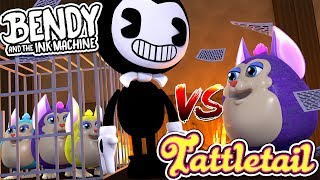 Minecraft BENDY AND THE INK MACHINE VS TATTLETAIL-BENDY KILLS MY TATTLETAIL??- Baby Leah Adventures!