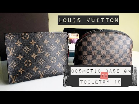 Downsizing from Cosmetic Case GM to Toiletry 19 // Damier Ebene // Monogram
