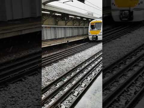 C2c train running over snow 10/12/17 at lime house station.
