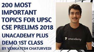 Unacademy Plus Demo 1st Class - Venkatesh Chaturvedi