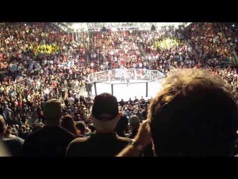 Junior Dos Santos and Cain Velasquez UFC166 walkout