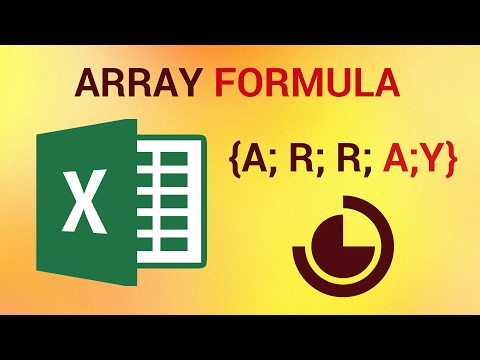 How to Use Arrays and Array Formula in Excel 2016