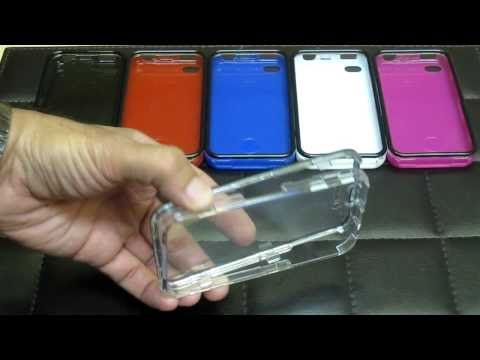 Touchable Crystal Case with Built-in Screen Protector for Apple iPhone 4 & 4S