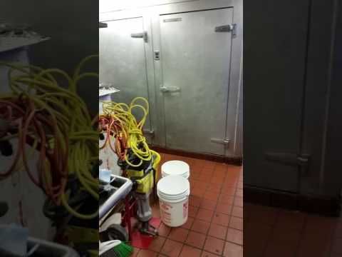 More on the 75 gallon grease trap install.
