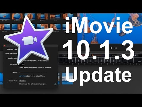 iMovie 10.1.3 Update - New Features