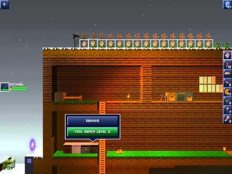 The Blockheads iOS Gameplay #009 (gathering flax,crafting ingot)
