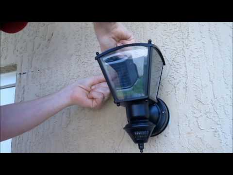Installing a Secure Home Motion Activated Outdoor Wall Light