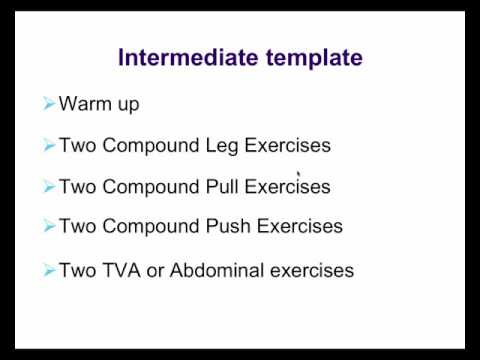 Learn how to plan and write strength and fitness programs video 3