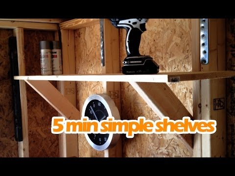 Simple Easy DIY Shelves Under $15 | Sturdy Shelving Anyone Can Make