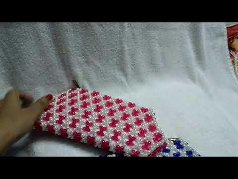 Beads hand bag