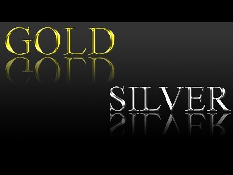 Photoshop Tutorial: How to create gold text and silver text.
