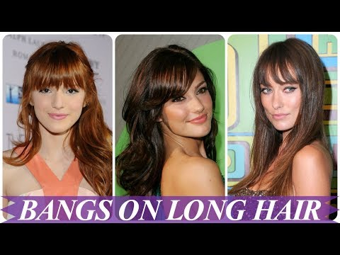 Chic hairstyles for long hair with bangs 2018 for women