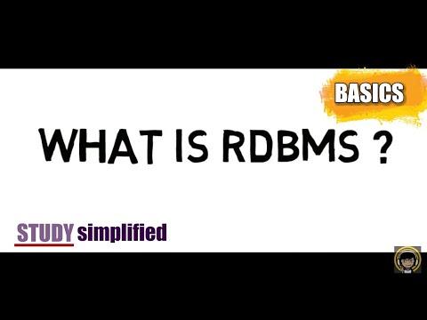 RDBMS tutorial for beginners