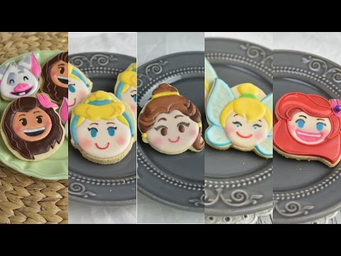 BEST OF DISNEY EMOJI BLITZ COOKIES, MOANA, CINDERELLA, BELLE,TINKERBELL, MERMAID, HANIELA'S