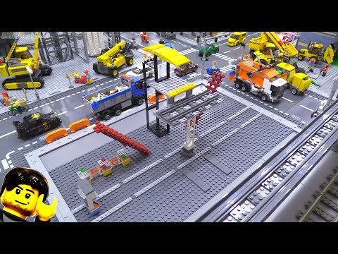 New LEGO city elevated rail station: Project begins