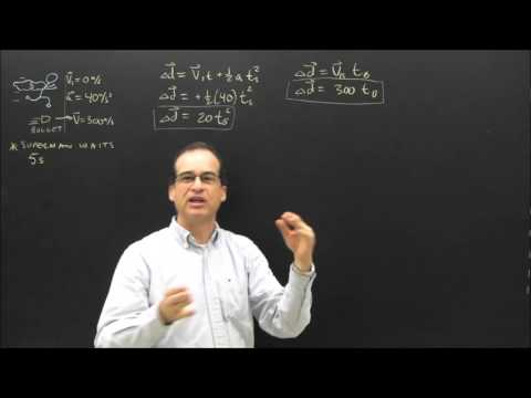 Tricky Acceleration Equations Sample Problem Can Superman Catch Up With a Bullet