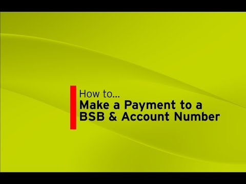 Make a payment to a BSB & Account Number (Internet Banking)