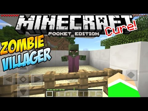 ZOMBIE VILLAGERS in MCPE!! - How To Cure a Zombie Villager!! - Minecraft PE (Pocket Edition)