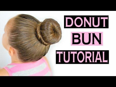 How to make a Donut Bun Hair Tutorial