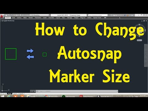 How to Change AutoSnap Marker Size in AutoCAD By Engineer AutoCAD Tutorials