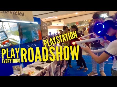 2018 Playstation Play Everything Roadshow: Monster Hunter World, Detroit, God of War, Bravo Team