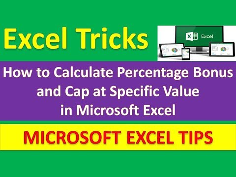 How to Calculate Percentage Bonus and Cap at Specific Value in Microsoft Excel [Urdu / Hindi]