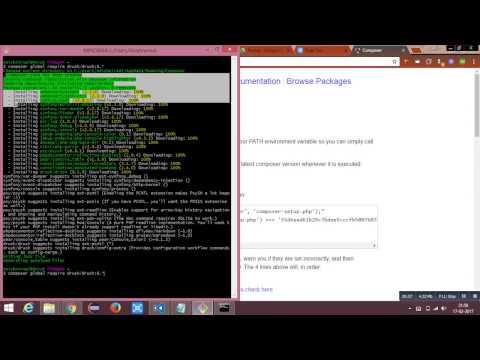 Installing Drush 8 in Windows for Drupal 8