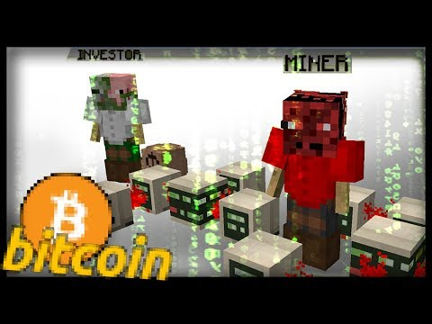 FULLY WORKING BITCOIN CRYPTOCURRENCY in Vanilla Minecraft (realistic mining and trading ecosystem)