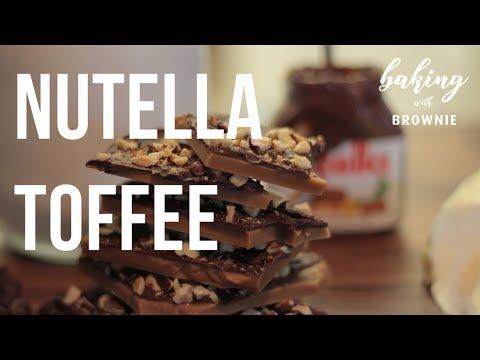 HOW TO MAKE NUTELLA TOFFEE- BEWARE, ITS ADDICTING (Recipe in Bio)