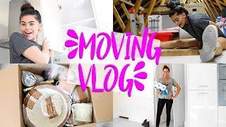 MOVING VLOG 1 | GETTING MY KEYS & UNPACKING MY KITCHEN! KITCHEN ROOM TOUR