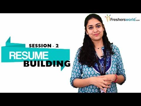 RESUME BUILDING FOR FRESHERS - PART 2  | Sample Resume Format | Resume Writing Tips-2