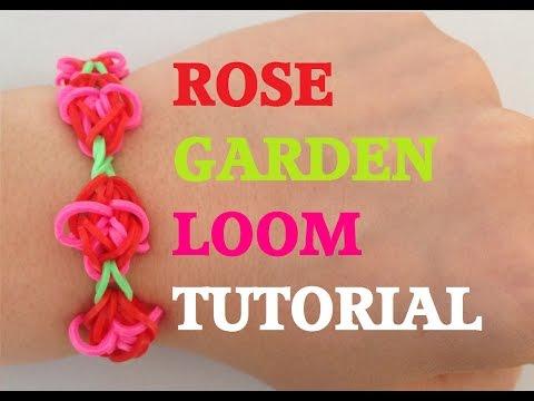 ROSE GARDEN Rainbow Loom Tutorial