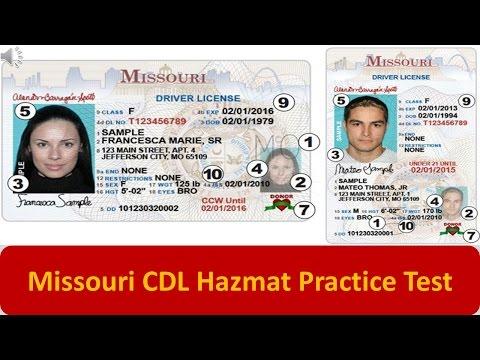Missouri CDL Hazmat Practice Test