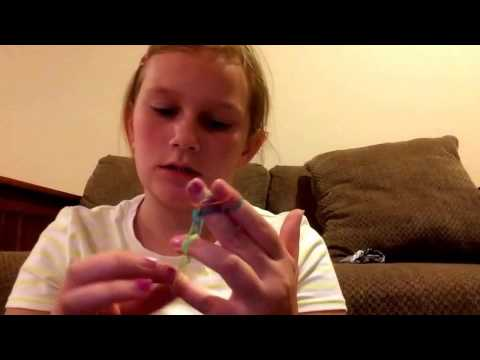 Rainbow loom: DRAGON SCALE (using your fingers) New 2014