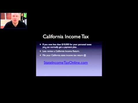 State of California Income Tax Rates
