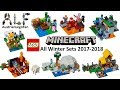 All Lego Minecraft Sets Winter 2017-2018 - Lego Speed Build Review