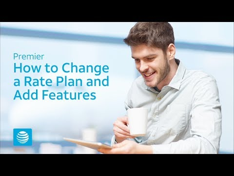 How to View and Change Rate Plans and Features – AT&T Premier