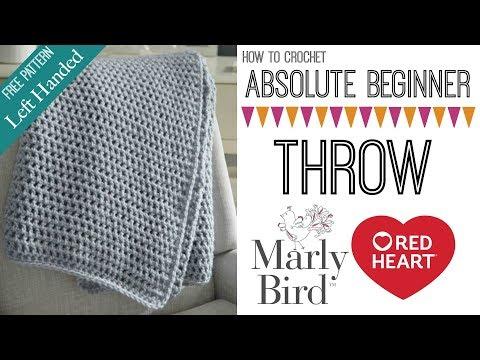 How to Crochet Beginner Crochet Throw Left Handed