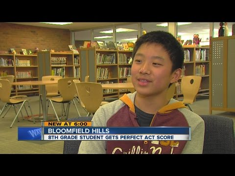 8th grader gets perfect ACT score