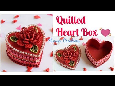 Quilled Heart Box/ DIY Valentine's Day Gift