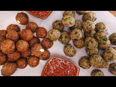 Sweet Sausage and Broccoli Rabe Meatballs