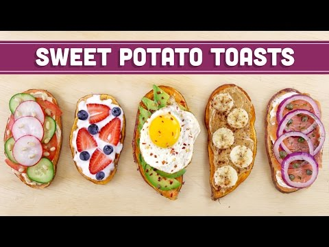 Healthy Sweet Potato Toast (Vegan Options) - Mind Over Munch