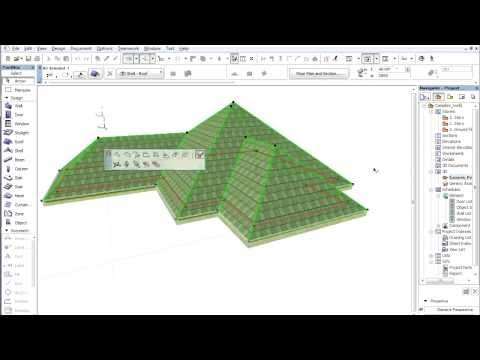 Complex roofs in ARCHICAD - Editing eaves
